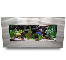 5-Gallon Wall Mounted Aquarium Fish Tank LED Light Filter Me