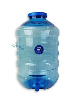 5 Gallon Water Bottle BPA Free Plastic Big Cap Jug Container