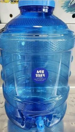 5 Gallon Water Bottle BPA Free Plastic Big Cap Jug Container
