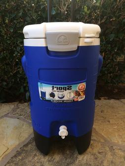 5 Gallon Wheeled Portable Sports Cooler Water Beverage Dispe