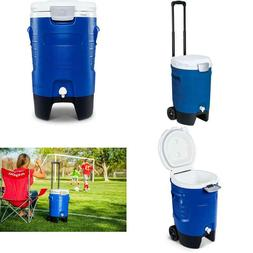 Igloo 5 Gallon Wheeled Portable Sports Cooler Water Beverage