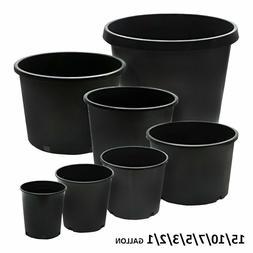 Calipots 5 Pack - Premium Black Nursery Pots - plastic plant