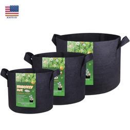 VIVOSUN 5 Packs Fabric Plant Pots Grow Bags w/ Handles 3,5,7