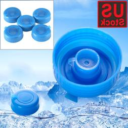 5 Pcs Non Spill Water Cap Gallon Jug Bottle Caps Reusable Bl