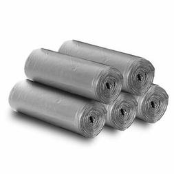5 Rolls Small Trash Garbage Bags 5 Gallon Strong Thin Materi