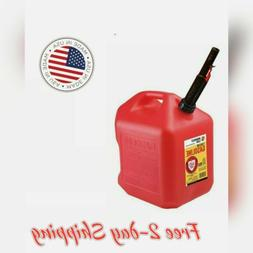 Midwest Can 5610 Portable High Density Polyethylene Gas Can,