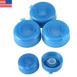 5Pcs Blue Gallon Drinking Water Bottle Screw on Cap Replacem