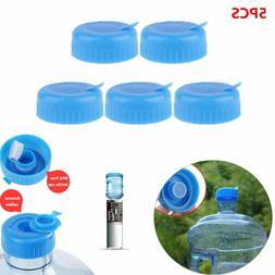 5x Blue Gallon Drinking Water Bottle Cap Screw Anti Splash L