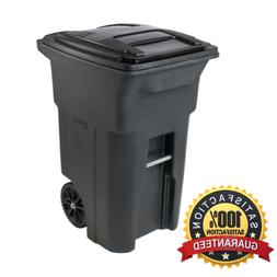 64 Gallon Residential Curbside Trash Can Cart Rolling Garbag