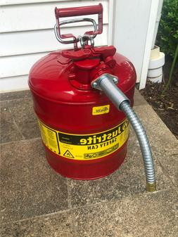 Justrite 7250120 5-Gallon Type II Safety Can with 58 Flexibl