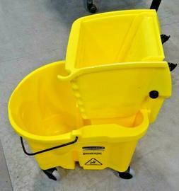Rubbermaid 90-7470-A1 Wavebreak 5 Gallon Yellow Mop Bucket /