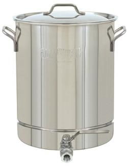 Bayou Classic 1064 Stainless 16-Gallon Stockpot with Spigot