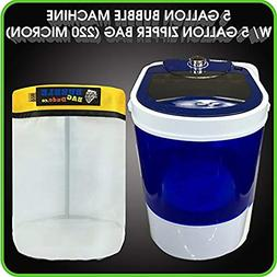 Bubble Bag Machine 5 Gallon Small Mini Compact Washer Extrac