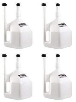 HUNSAKER USA: 5 Gallon  WHITE QuikFill Fuel Jugs, Gas Cans,