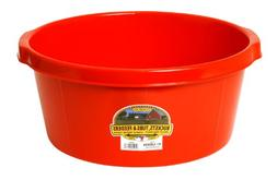 LITTLE GIANT All-Purpose Tub, 6.5-Gallon, Red