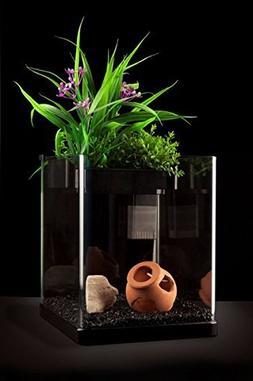 Nanoponic Aquarium W/ Planted Top NP5GB 5Gal, Black by AquaT