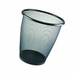 Safco Products 9717BL Onyx Mesh Round Wastebasket, 5-Gallon,