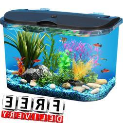 Aquarium 5 Gallon LED Lighting Power Filter Decoration Tropi