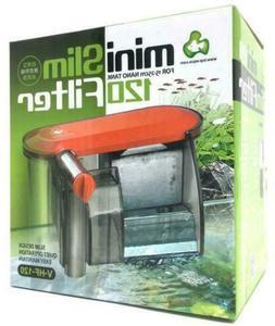 Aquarium Fish Tank Quiet Slim Hang On Waterfall filter for 5