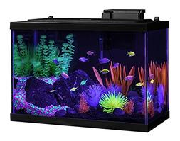 20 Gallon Aquarium Kit Fish Tank Led Glo Color Filter Starte