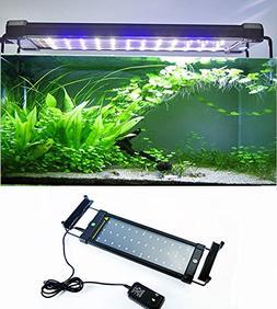 amzdeal Fish Tank Light LED Aquarium Light with Extendable B