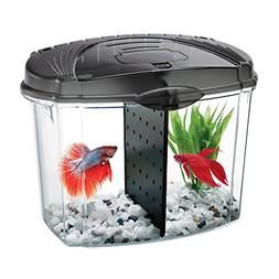Aqueon Betta Fish Tank Starter Kit, Half Gallon, Black