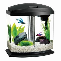 Aqueon LED BettaBow Aquarium Starter Kits with LED Lighting,