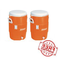 Beverage Cooler 2 PACK 5-Gallon Heavy Duty Sports Outdoor Wo