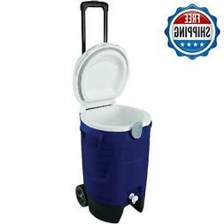 Beverage Cooler Jug Water 5 Gallon Rolling W/ Spigot & Handl