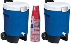 Igloo 5-Gallon Beverage Roller, Majestic Blue  with Plastic