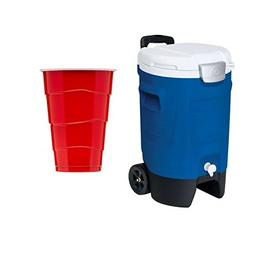 1 Pack Igloo 5-Gallon Beverage Roller, Majestic Blue w/free