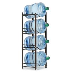 Black 3-5 Tier 5 Gallon Water Jug Holder Water Bottle Storag