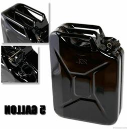 Black 5 Gallon Jerry Can Gas Fuel Steel Tank Military NATO S