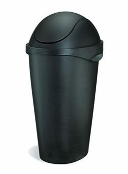 Umbra Black Mini Trash Can 1.5 Gallon 5 Liter Small Paper Wa