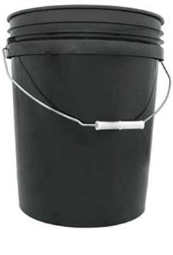 black plastic pail
