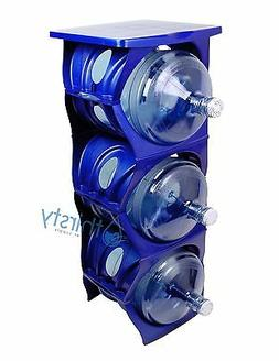 Blue Water Bottle Holder Stand 3 & 5 Gallon Rack 3 Tier Stac