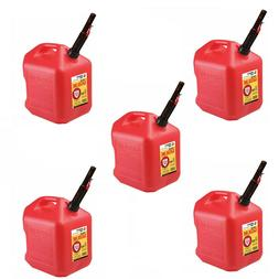 Gas Cans - 5 Gallon each, 5 Pack, Plastic Will Not Corrode o