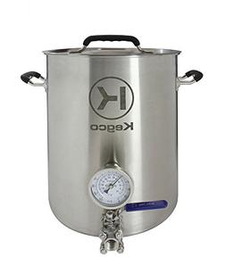 Kegco 6 Gallon Brew Kettle with Thermometer & 3-Piece Ball V