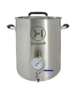 Kegco 6 Gallon Brew Kettle with Thermometer & 2-Piece Ball V
