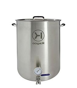 Kegco 30 Gallon Brew Kettle with Thermometer & 3-Piece Ball