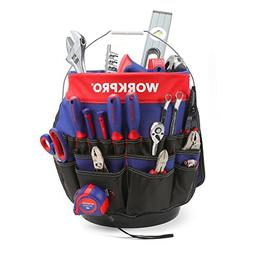WORKPRO Bucket Tool Organizer with 51 Pockets Fits to 3.5-5