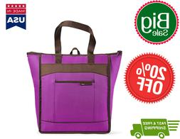 Rachael Ray ChillOut Thermal Tote Purple Reusable Lunch Bag,