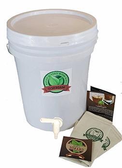 One 5-Gallon-sized Cold-brew Coffee Brewer/Dispenser includi
