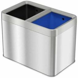 HLS COMMERCIAL Combo Recycle And Trash Can, 5 Gallon / 20 L,
