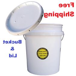 COMMERCIAL PLASTIC BUCKET with LID 5 Gallon Food Paint Stora