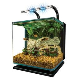 MarineLand Contour Glass Aquarium Kit with Rail Light by Mar