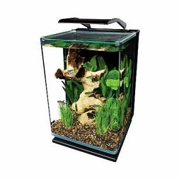 Modern Aquarium 5 Gallon Black Desktop Glass Fish Tank Start