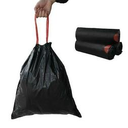 Begale 5 Gallon Drawstring Trash Bags, Black 115 Counts/2 Ro