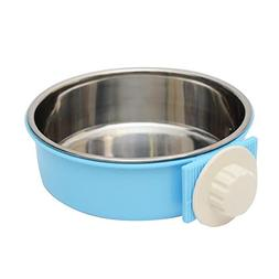 starlit Durable Stainless Steel Hanging Feeding Bowl,Double