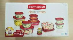RUBBERMAID Easy Find Lids 24 Piece Food Storage Container Se
